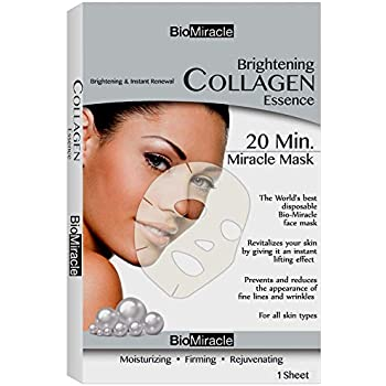 BioMiracle - Brightening Collagen Essence Mask for Brightening & Instant Renewal (Pack of 1)