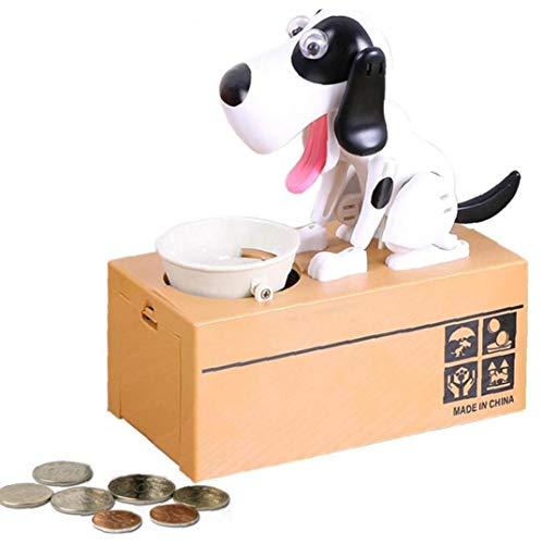 KHHGTYFYTFTY NICEYARD Kinder Geschenk-elektronische Piggy Banks Cartoon Roboter-Hund stehlen Münzen-Bank Automatisierte Spardosen Geld sparen Box