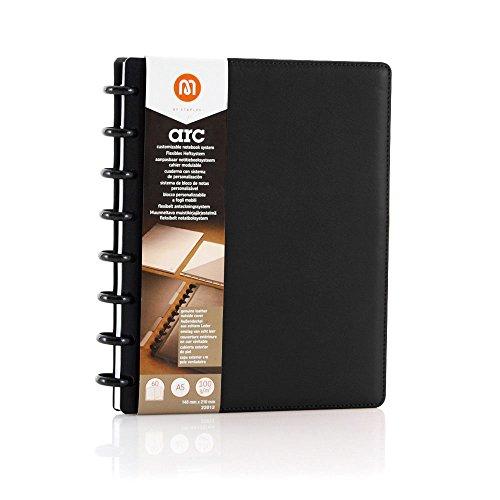 Spiralbuch ARC Leder befüllbar schwarz DIN A5 60 Blatt 22009