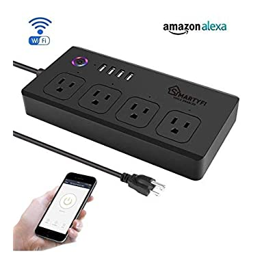 Smart Power Strip Works with Alexa and Google Home, SMARTYFI USB Power Strip and Smart Surge Protector, No Hub Required, Smart Life App, Multi Outlet Wifi Surge Protector with 4 AC and 4 USB Ports