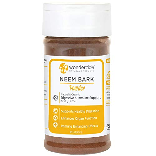 Wondercide - Neem Bark Powder - Dental & Digestive Support for Dogs & Cats - Plant-Based Dog & Cat Digestion Aid - 4 oz