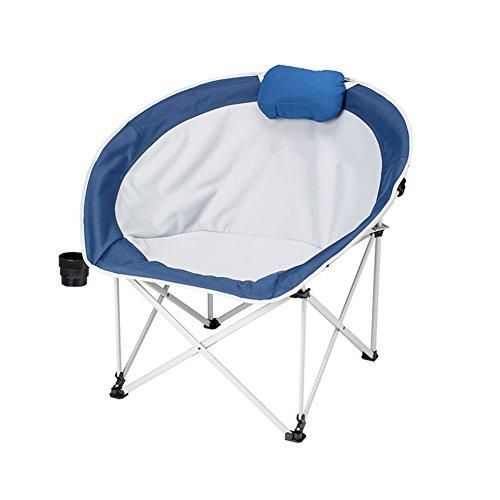 HM&DX Portable Chaises pliantes exterieures Chaises de camping ConPourtables Chaise de lune Avec Badminton sac Pour Jardin camping pêche randonnée picnic-bleu