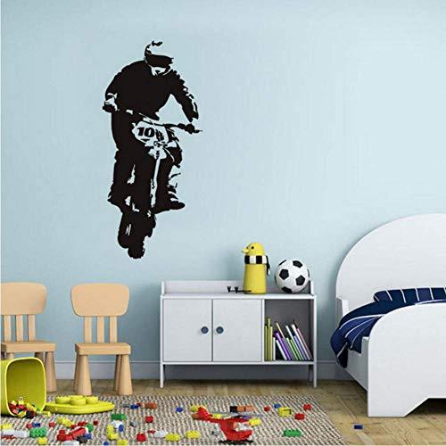 DLC Motorrad Wandkunst Aufkleber Vinyl Aufkleber Abnehmbare Vinyl Wandaufkleber Wohnkultur Für Wohnzimmer43 * 94Cm