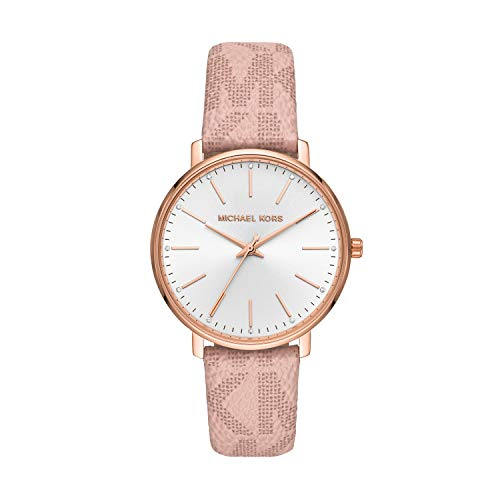 Michael Kors Damen Analog Quarz Uhr mit PVC Armband MK2859