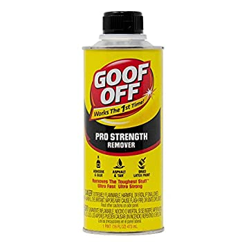 Goof Off FG653 Professional Strength Remover Pourable 16-Ounce,Liquid