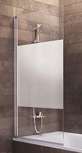 Schulte Duschwand Berlin, 70 x 130 cm, 5 mm Sicherheitsglas Dezent, alunatur, D16503 01 100, Duschabtrennung für Badewanne