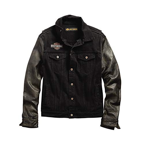 Jean and Leather Jacket for Men's