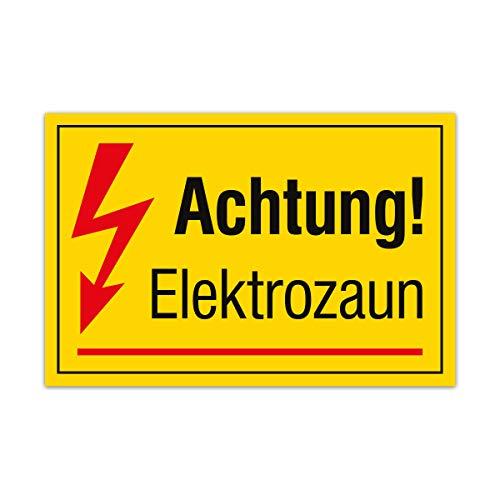 PVC Hartschaum Hinweis Schild 30x20cm Wetterfest Kratzfest UV beständig - Elektrozaun