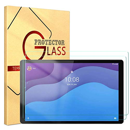 ZhuoFan Templado Protector para Lenovo Tab M10 HD Gen 2 (TB-X306X) Tableta, Protector Cristal de Pantalla de Vidrio Premium Templado [9H Dureza] para Lenovo Tab M10 HD Gen 2 10.1 Pulgada, 2 Pack