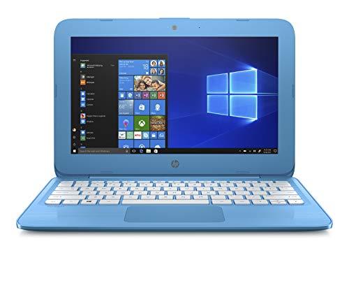 HP Stream 11-inch Laptop, Intel Celeron N3060 Processor, 4 GB SDRAM Memory, 32 GB eMMC storage, Windows 10 Home in S Mode with Office 365 Personal for one year (11-ah010nr, Aqua Blue)