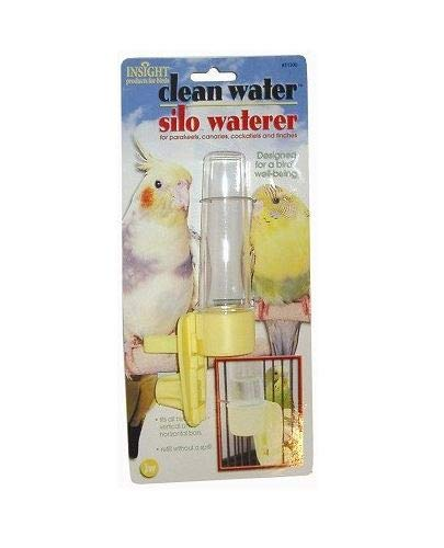 JW Pet Company Clean Water Silo Waterer Bird Accessory, Regular (Colors May Vary)