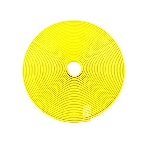 Protector de rueda de automóvil 8m / Roll Strip Rims Blade Protección de neumáticos para Mitsubishi Pajero Outlander Asx Lancer para Dacia Logan MCV 2 (Color : Yellow)