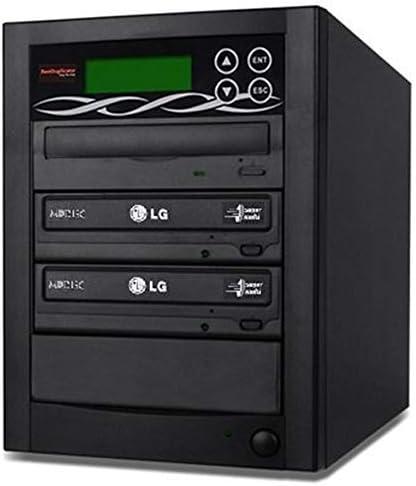 BestDuplicator 2 Target (1 to 2) 24X SATA DVD Duplicator Built-in LG Burner DVD Burner (128MB Buffer) + Free Nero 10 Multimedia Suite Essentials CD/DVD Burner Software - Professional DVD CD Duplication Copier Machine