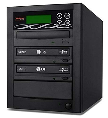 BestDuplicator 2 Target (1 to 2) 24X SATA DVD Duplicator Built-in LG Burner DVD Burner (128MB Buffer) + Free Nero 10 Multimedia Suite Essentials CD/DVD Burner Software - Professional DVD CD Duplication Copier Machine