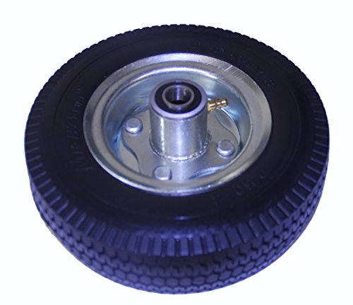 "Mighty Lift 8"" x 2.5"" Hand truck wheel, Flat Free, Tubeless, 2.80/2.50-4 Poly Tire, 2-1/4' Offset Hub, 5/8' Precision Bearing, 350 lbs cap"