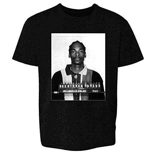 Pop Threads Mugshizzle Celebrity Mugshot Music Black L Youth Kids Girl Boy T-Shirt