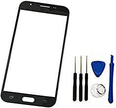 Front Screen Outer Glass Top Panel Lens Cover Replacement for Galaxy J7 2017 SM-J727 J727R4 J727V J727P SM-J727A & J7 Sky Pro &&J7 Prime 2017 SM-J727T1(Not Digitizer&Not LCD) (Black)