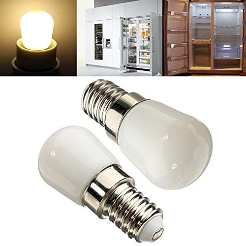 sanshi Bombilla de Bombillas de luz de iluminación E14 Bombilla LED 2W Blanco/Caliente Blanco 100LM Refrigerador Luz de refrigerador AC 220-240V Bombillas LED Bombillas halógenas Zzzb