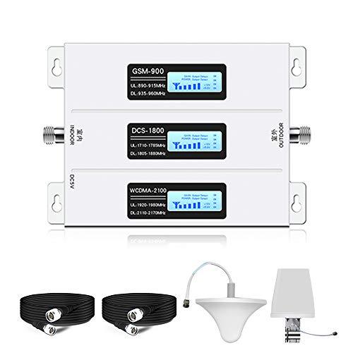 Cellulare ripetitore del Segnale 2G 3G 4G 900/1800 / 2100Mhz Mobile del Segnale del ripetitore Tri Band 3 Schermo LCD Amplificatore del Segnale Set,800/900 / 1800 MHz