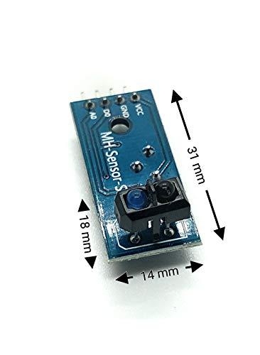 Homengineer 5X Reflektive Lichtschranke IR Linetracker Kontrasterkennung TCRT 5000 mit Analog und Digitalausgang f. Arduino Raspberry Pi etc.