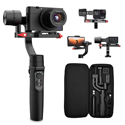 Hohem iSteady Multi 3-Axis Gimbal Stabilizer for Sony RX100 Series, Sony RX0, Sony X3000, Gopro Hero, iPhone, YouTube Video Vlog Stabilizer for Digital Camera Action Camera and Smartphone