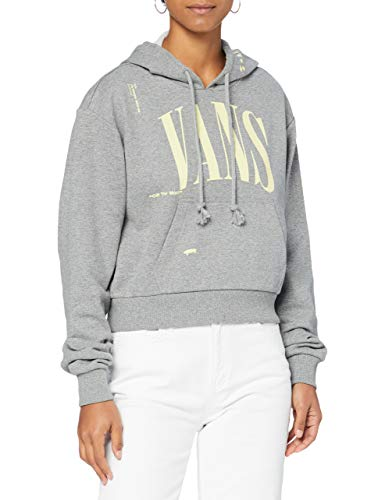 Vans Kaye Crop Hoodie Sudadera con capucha, gris, M para Mujer
