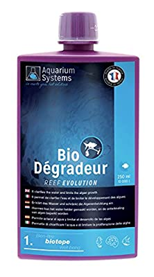 Aquarium Systems Reef Evolution Bio Dégradeur en Liquide pour Aquariophilie 250 ML