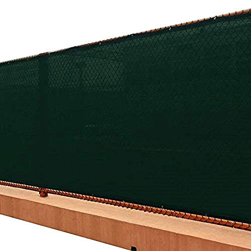 UPGRADE Fence Privacy Screen 6' x 50' Privacy Screen Fence with Heavy Duty Grommets for Visibility Blockage & Home Protection - Dark Green