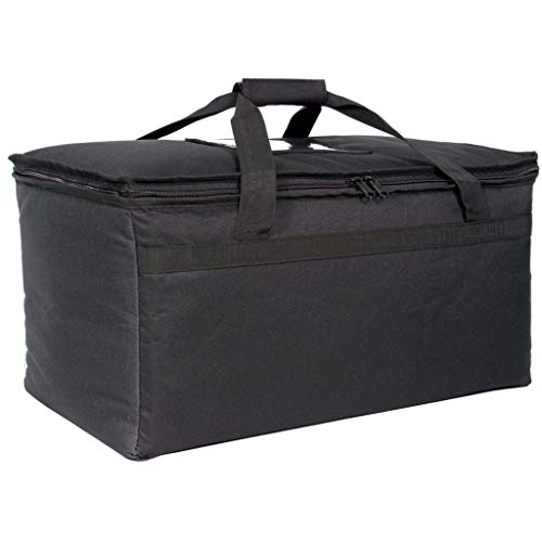Commercial Quality Food Delivery Bag - Heavy-Duty Durable Bags - Thick Insulation and Extra Strength Zipper - Fits Full-Size Catering Pan - Ideal for Uber Eats, Instacart, Doordash, Grubhub, Postmates, Restaurant, Catering, Grocery Transport