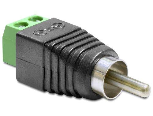 DELOCK Adapter Terminalblock  Cinch Stecker