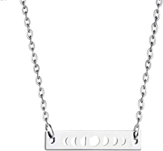 Moon Phases Necklace Bar Pendant Necklace Gift for Women