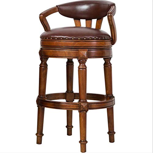 WYLZLIY-Home Barstools Barstool Breakfast Dining Stools Bar Retro Stainless Steel Hemp Pad Backrest Optional/Sitting High Bar Stools High Stools Bar Chairs (Size : 84.5CM)