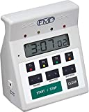 FMP 151-7500 Digital 4 Channel Commercial Kitchen Countdown Timer, Water Resistant, 7-inch Height, White