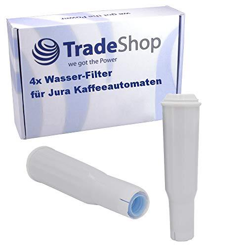 Trade-Shop 4X Wasser-Filter für Jura Impressa S50 S55 S70 S75 S85 S90 S95 F5 F7 F9 F50 F55 F70 F85 F90 / Filterpatrone ersetzt Jura Claris White 60209 68739