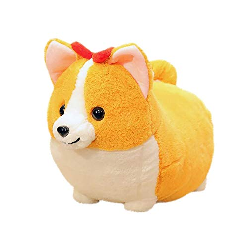 Plush Corgi Doll Anime Pillow Stuffed Animals Shiba Inu Chubby Dog Cute Fluffy Soft Kawaii Plush Cushion Pillow Halloween Christmas Birthday Gift Toy for Kids (B)