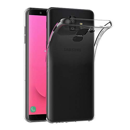 AICEK Coque Samsung Galaxy J8 2018, Transparente Silicone Coque pour Samsung J8 2018 Housse Silicone Etui Case (6,0 Pouces)
