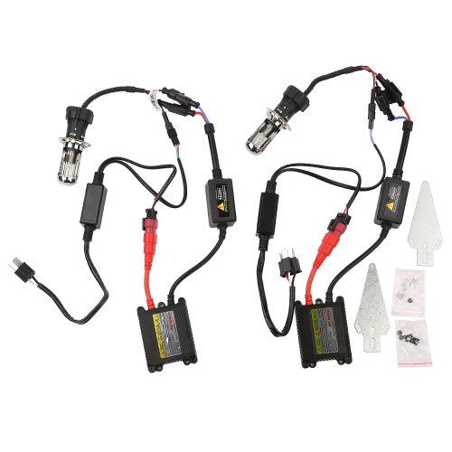 OSAN Auto/Motorrad H4(H4-3) Hi/Lo Scheinwerfer HID Kit Leuchte Xenon mit Ballast (Lichtfarbe: 8000K)