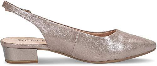 CAPRICE 9-29403-24 Damen Sling Pumps Leder Blockabsatz, Schuhgröße:41 EU, Farbe:Braun