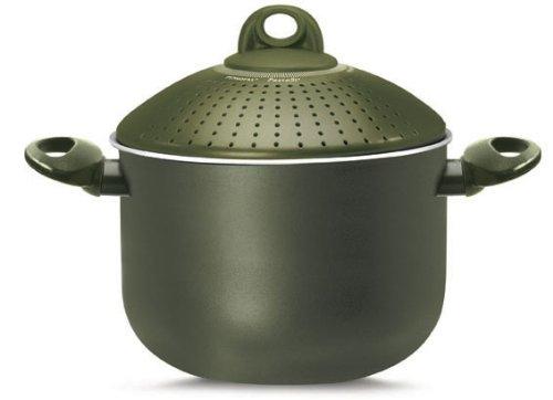 Bioceramix PastaSi Kochtopf mit patentiertem Siebdeckel olivegrün