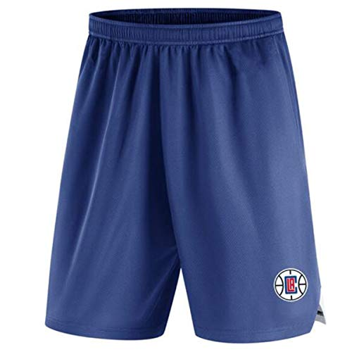 HBBDYZ Männer NBA Lakers Sport Shorts Adjustable Quick Dry Lauf Gym beiläufige Kurze Leichte Strand Shortsparent,Clippers,L