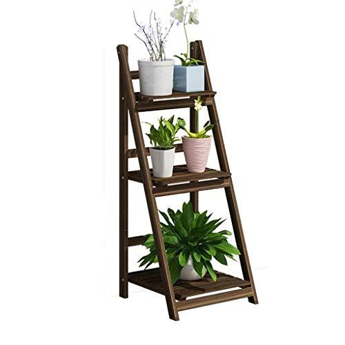 CCAN Bloem Plank Balkon Massief Houten Plank, Indoor Woonkamer Meerlaags Vouwen Bloemenrek Plant Display Stand Interessant leven
