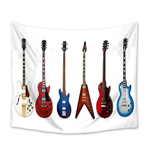QJIAHQ Tapiz de Guitarra eléctrica Colgante de Pared de poliéster decoración del Dormitorio del hogar Colcha de Playa Manta de Estera de Yoga tapices-150 * 200cm