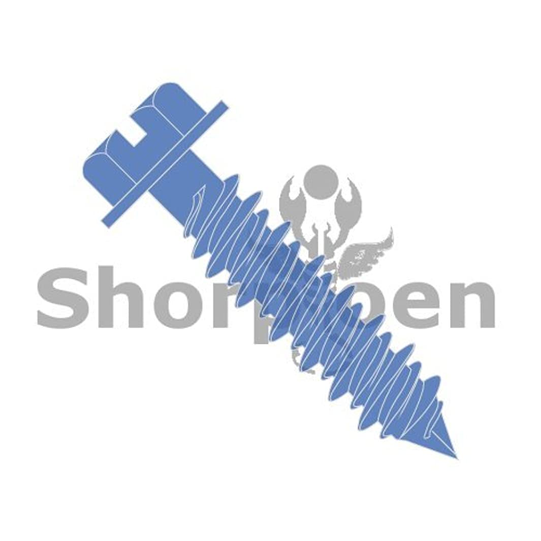 SHORPIOEN Hex Flanged Concrete Screw (1/4 x 1-1/4 (Pack of 100), Blue)