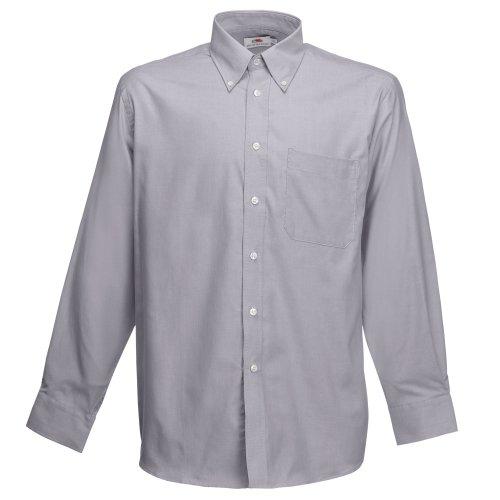 Fruit of The Loom - Camisa de Manga Larga Modelo Oxford para Hombre Caballero - Fiesta/Trabajo/Eventos