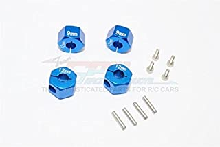 Traxxas Ford GT 4-Tec 2.0 (83056-4) Upgrade Parts Aluminum Hex Adapters 9mm Thick - 4Pc Set Blue