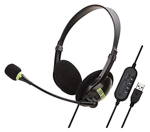 Brushes Komputer USB zestaw słuchawkowy przewodowy zestaw słuchawkowy do biura zestaw słuchawkowy obsługa klienta zestaw słuchawkowy klasy online