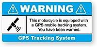 WARNING GPS盗難オートバイ 金属板ブリキ看板警告サイン注意サイン表示パネル情報サイン金属安全サイン
