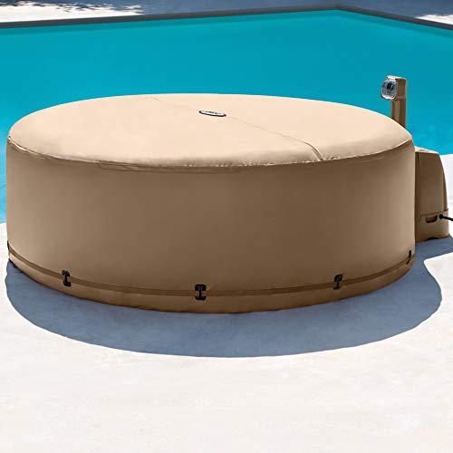 INTEX PureSpa Bulles + couverture thermique 4 places beige