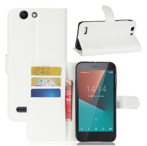 NEKOYA Vodafone smart E8 Hülle,Vodafone smart E8 Lederhülle,Handyhülle im Brieftasche-Stil für Vodafone smart E8.Schutzhülle mit [TPU Innenschale] [Standfunktion] [Kartenfach] [Magnetverschluss]