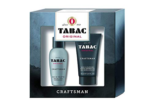 Tabac® Original Craftsman I Geschenkset I Eau de Toilette 50ml Natural Spray und Duschgel 75ml